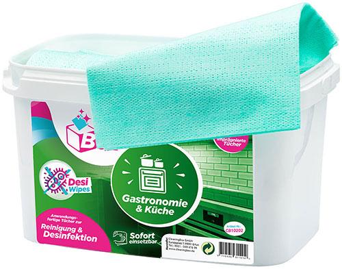 CleaningBox DesiWipes Desinfektions- & Reinigungstücher Gastronomie & Küchen 35er Spenderbox Grün