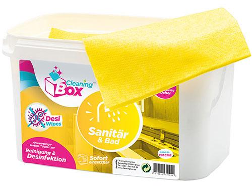 CleaningBox DesiWipes Desinfektions- & Reinigungstücher Sanitär & Bad